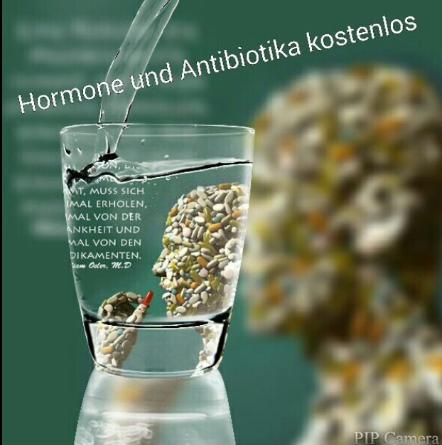 Wasser mit Hormone und Antibiotika FOTO